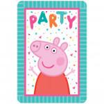 Amscan INVITATIONS (8) - PEPPA PIG