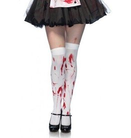 Leg Avenue Bloody zombie thigh highs O/S WHITE/RED