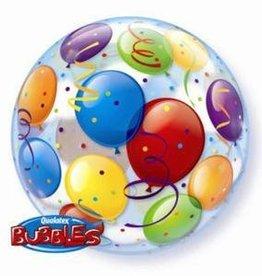 "Qualatex BALLOONS BUBBLE 22"" BUBBLES"