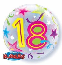 Qualatex BALLON BUBBLES 21 ANS COLORÉ