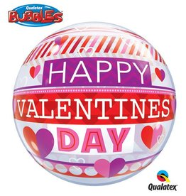 "Qualatex VALENTINE'S STRIPE PATTERN 22""BUBBLE"
