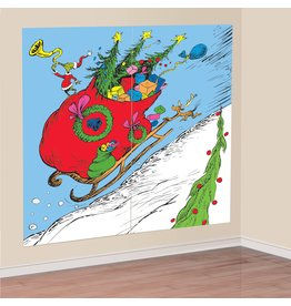 "Amscan DÉCORATION MURALE 65"" X 65"" - THE GRINCH"