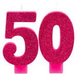 Amscan CHANDELLES D'ANNIVERSAIRE ROSE SCINTILLANT - 50 ANS