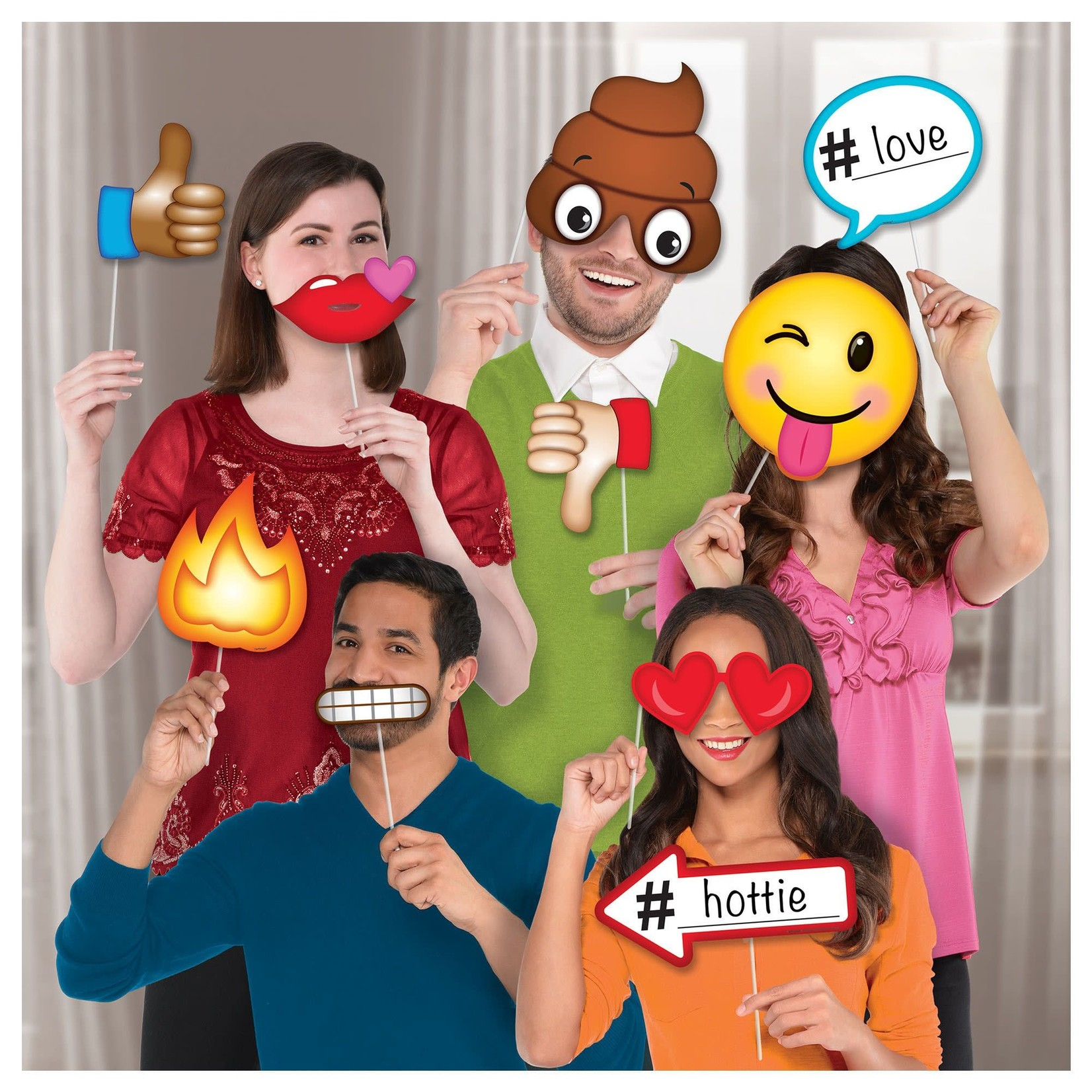 Amscan ACCESSOIRES POUR PHOTOBOOTH - EXPRESSIONS