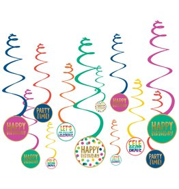 Amscan DÉCORATIONS SUSPENDUES (12) - HAPPY BDAY