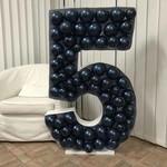 STEWARTS BASKET & BALLOONS CADRE MOSAÏQUE 120CM - CHIFFRE 5