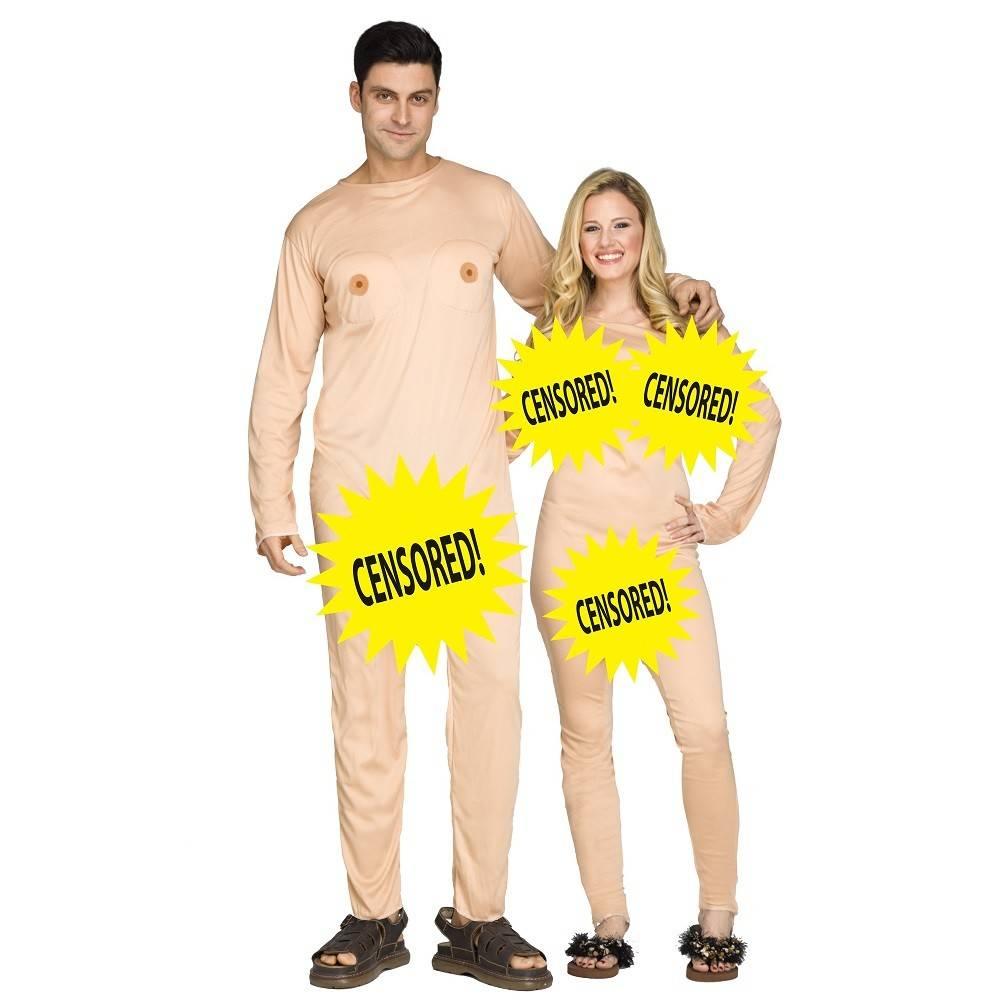 FUN WORLD COSTUME ADULTE COUPLE NUDISTE (2 COSTUMES) - STD