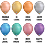 PARTY SHOP CHROME LATEX 11INCH BALLOON :