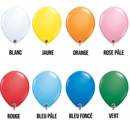 PARTY SHOP STANDARD COLORS 11 INCH LATEX BALLOON