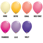 PARTY SHOP FASHION COLORS #1 - 11 INCH LATEX BALLOONS