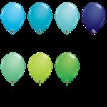 PARTY SHOP BALLON LATEX 11PO COULEURS MODE #2 :