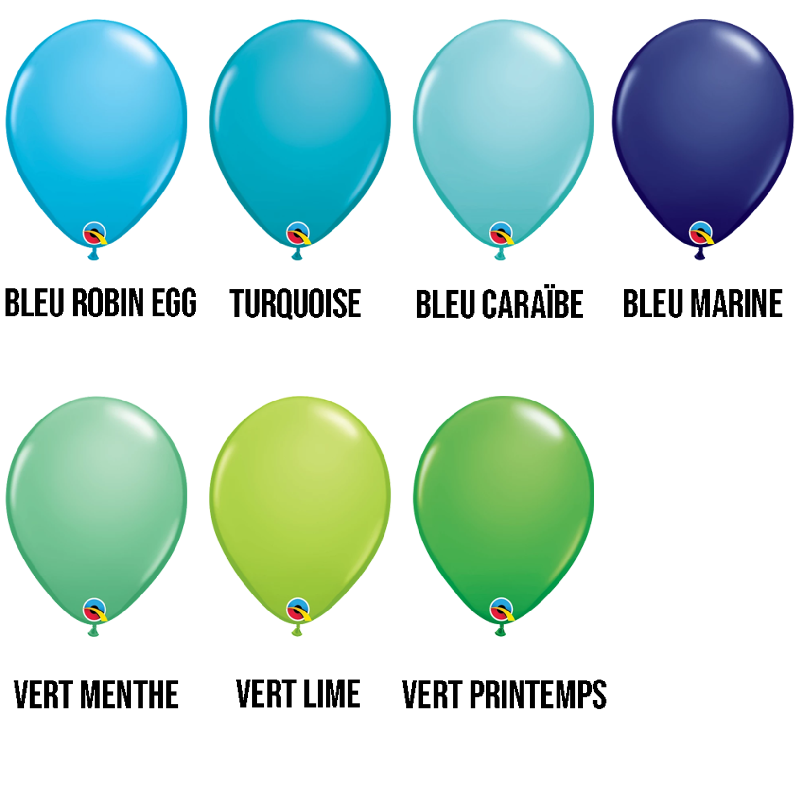 PARTY SHOP FASHION COLORS #2 - 11 INCH LATEX BALLOONS