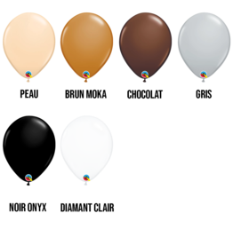 PARTY SHOP FASHION COLORS #3 - 11 INCH LATEX BALLOONS