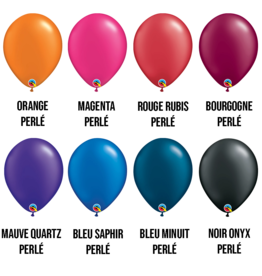 PARTY SHOP RADIANT PEARL COLORS #1 - 11 INCH LATEX BALLOONS