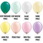PARTY SHOP RADIANT PEARL COLORS #2 - 11 INCH LATEX BALLOONS