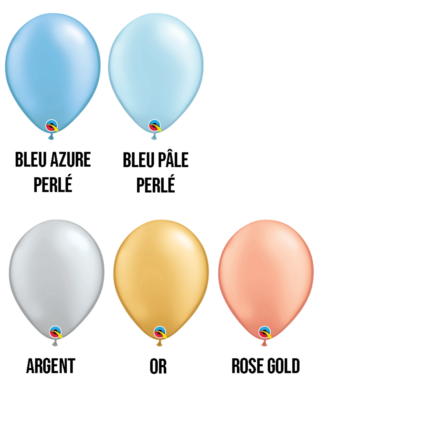 PARTY SHOP RADIANT PEARL COLORS #3 - 11 INCH LATEX BALLOONS