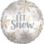 Anagram BALLON MYLAR 18PO - LET IT SNOW