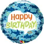 Qualatex BALLON MYLAR 18PO - HAPPY BIRTHDAY REQUIN