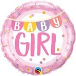 Qualatex BALLON MYLAR 18PO - BABY GIRL BANDEROLE