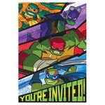 Amscan *INVITATIONS - TORTUES NINJAS (8)