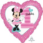 Anagram BALLON MYLAR 18PO MINNIE MOUSE COEUR 1ST BDAY