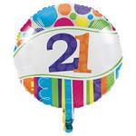 Creative Converting BALLON MYLAR 18PO - 21 ANS