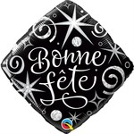 Qualatex BALLON MYLAR 18PO - BONNE FÊTE - NOIR ET BLANC