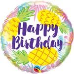Qualatex BALLON MYLAR 18PO - HAPPY BIRTHDAY ANANAS PASTEL