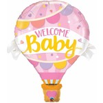 Qualatex BALLON MYLAR SUPERSHAPE - MONTGOLFIER WELCOME BABY FILLE