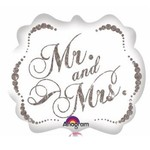 Anagram BALLON MYLAR SUPERSHAPE - ÉCLATANTS MR & MRS