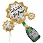 Anagram BALLON MYLAR SUPERSHAPE - CHAMPAGNE HAPPY NEW YEAR