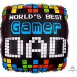 Qualatex BALLON MYLAR 18PO - GAMER DAD
