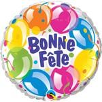 Qualatex BALLON MYLAR 18PO - BONNE FETE BALLONS MULTICOLORE