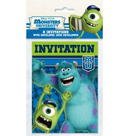 Unique CARTE INVITATIONS (8) MONSTER UNIVERSITY