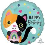 Anagram BALLON MYLAR 18PO - CHAT CALICO HAPPY BIRTHDAY