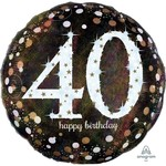 Anagram BALLON MYLAR SUPERSHAPE - 40 ANS JUMBO