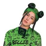 Disguise PERRUQUE ADULTE - BILLIE EILISH -2 CHIGNONS (VERT ET NOIR)