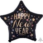 Anagram BALLON MYLAR 18PO - FORME D'ÉTOILE HAPPY NEW YEAR