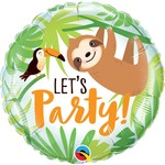 Qualatex BALLON MYLAR 18PO - TOUCAN ET PARESSEUX (LET'S PARTY)