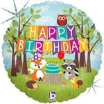 Betallic BALLON MYLAR 18PO - ANIMAUX DE LA FORÊT HAPPY BIRTHDAY