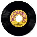 Beistle Co. VINYLE EN PLASTIQUE 19PO - ROCK&ROLL RECORD