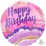 BLC BALLON MYLAR 18PO - HAPPY BIRTHDAY MARBLE