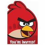Amscan CARTE D'INVITATIONS ANGRY BIRDS