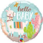 Anagram BALLON MYLAR 18PO - HELLO BABY LAMAS ET CACTUS