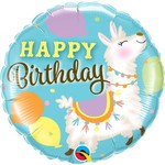 Anagram BALLON MYLAR 18PO - HAPPY BIRTHDAY LAMAS