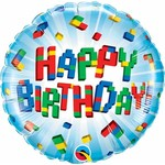 Qualatex BALLON MYLAR 18PO - HAPPY BIRTHDAY LEGO