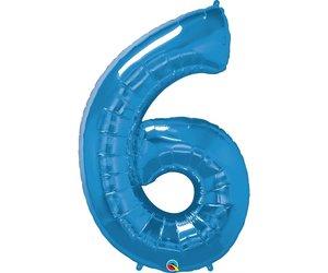 Foil Balloon Joyeux Anniversaire Bleu sparkle qualatex 36 in environ 91.44 cm