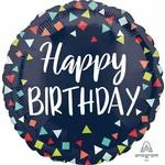 Anagram BALLON MYLAR 18PO - HAPPY BIRTHDAY (CONFETTIS)