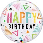 Qualatex BALLON BUBBLES - HAPPY BIRTHDAY PASTEL