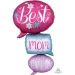 Anagram BALLON MYLAR MULTI-BALLOON - BEST MOM EVER